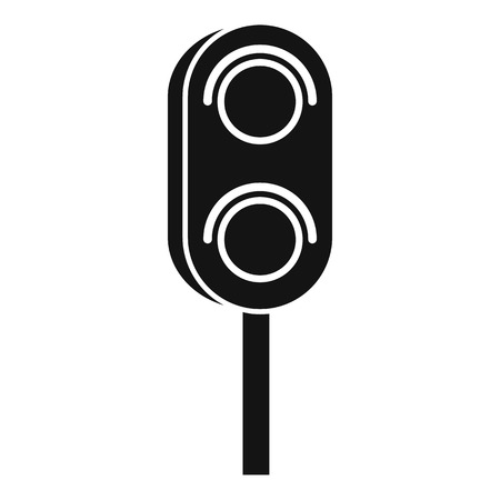 trafficlight: Semaphore trafficlight icon. Simple illustration of semaphore vector icon for web design