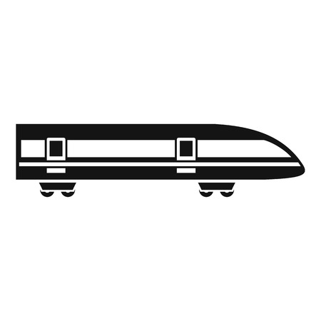 high speed: Modern high speed train icon. Simple illustration of high speed train vector icon for web design