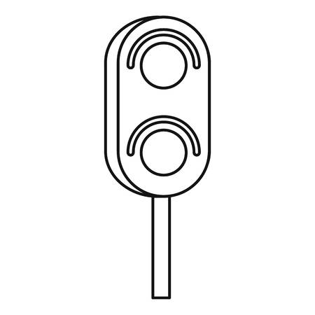 trafficlight: Semaphore trafficlight icon. Outline illustration of semaphore vector icon for web design