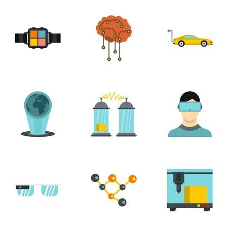 Innovation icons set. Flat illustration of 9 innovation vector icons for web