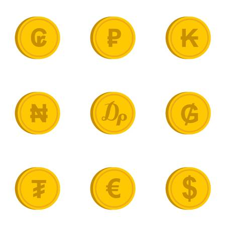 dram: Money icons set. Flat illustration of 9 money vector icons for web
