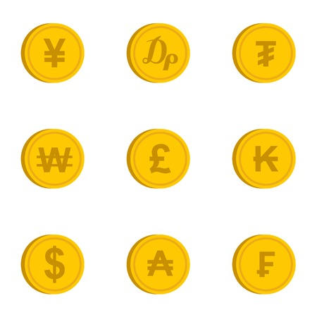 Finance icons set. Flat illustration of 9 finance vector icons for web Illustration
