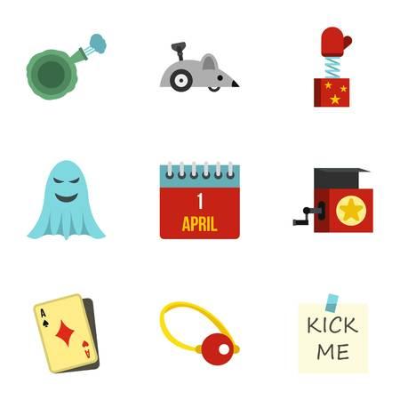 ballyhoo: Jocularity icons set. Flat illustration of 9 jocularity vector icons for web