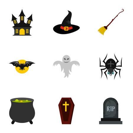 resurrection: Resurrection of dead icons set. Flat illustration of 9 resurrection of dead vector icons for web Illustration