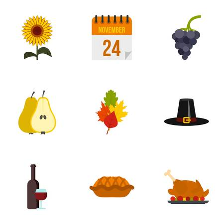 gratitude: Gratitude celebration icons set. Flat illustration of 9 gratitude celebration vector icons for web