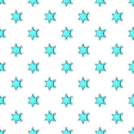 pointed: Six pointed star pattern. Cartoon illustration of six pointed star vector pattern for web Illustration