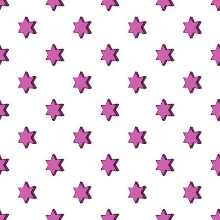 pointed: Geometric shape of six pointed star pattern. Cartoon illustration of geometric shape of six pointed star vector pattern for web