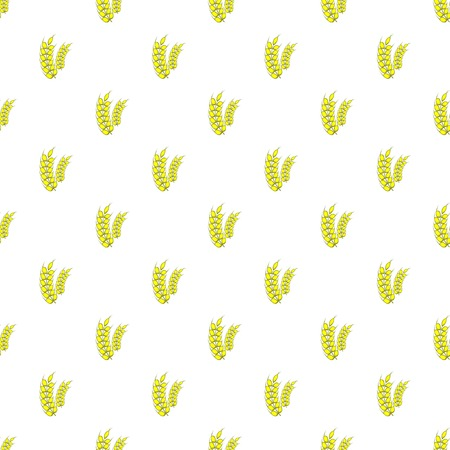 spikelets: Spikelets of wheat pattern. Cartoon illustration of spikelets of wheat vector pattern for web Illustration
