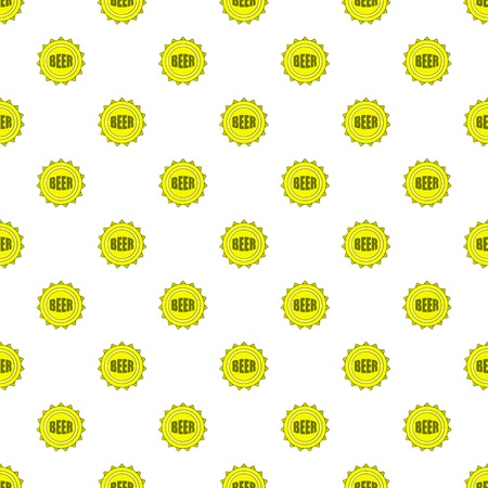Cover beer pattern. Cartoon illustration of cover beer vector pattern for web Illustration