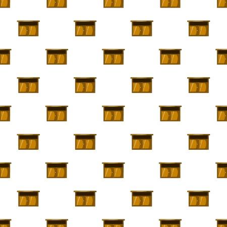 bedside: Bedside table pattern. Cartoon illustration of bedside table vector pattern for web Illustration