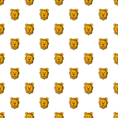 Face of lion pattern. Cartoon illustration of face of lion vector pattern for web Illustration