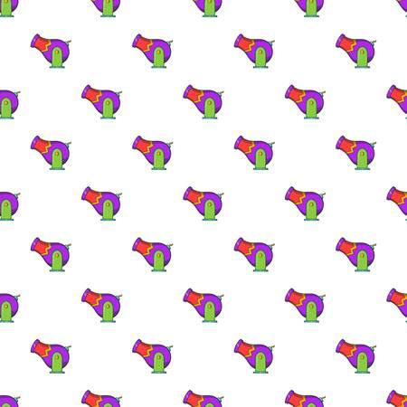 Circus cannon pattern. Cartoon illustration of circus cannon vector pattern for web Illustration