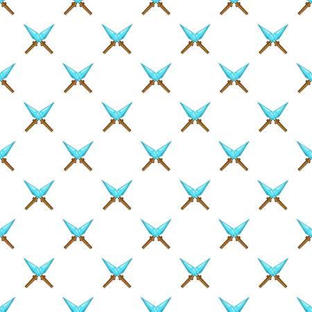Crossed spikes pattern. Cartoon illustration of crossed spikes vector pattern for web