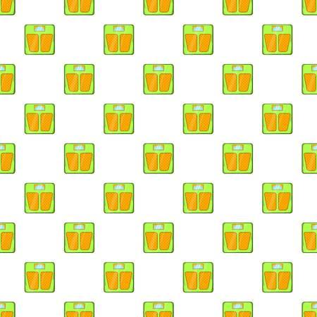 Mechanical scales pattern. Cartoon illustration of mechanical scales vector pattern for web