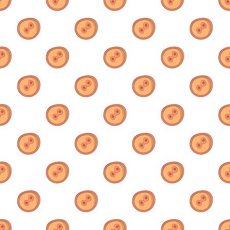 fertilized egg: Fertilized egg pattern. Cartoon illustration of fertilized egg vector pattern for web Illustration