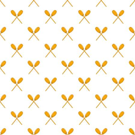 paddles: Paddles pattern. Cartoon illustration of paddles vector pattern for web