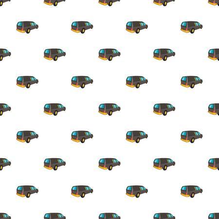 hearse: Hearse pattern. Cartoon illustration of hearse vector pattern for web
