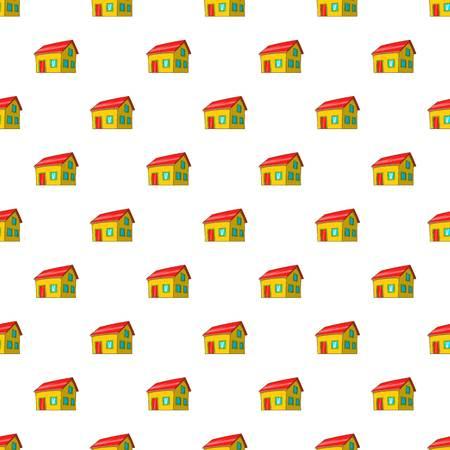 attic: House with attic pattern. Cartoon illustration of house with attic vector pattern for web Illustration