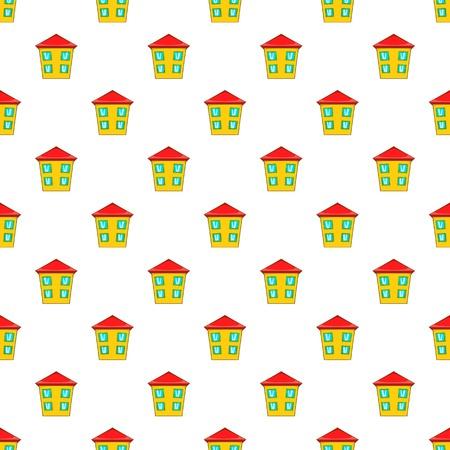two storey: Two storey house pattern. Cartoon illustration of two storey house vector pattern for web