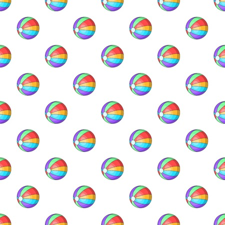 playtime: Colorful ball pattern. Cartoon illustration of colorful ball vector pattern for web Illustration