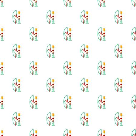 Hookah pattern. Cartoon illustration of hookah vector pattern for web