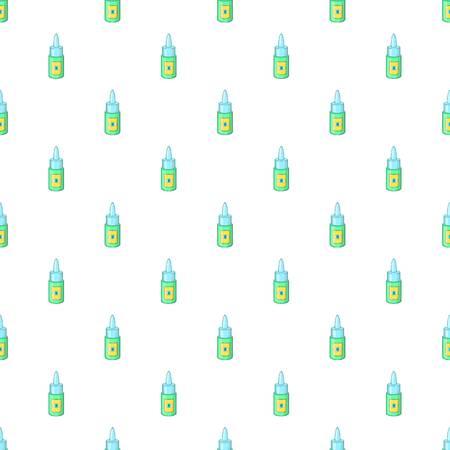 eye drops: Eye drops bottle pattern. Cartoon illustration of eye drops bottle vector pattern for web