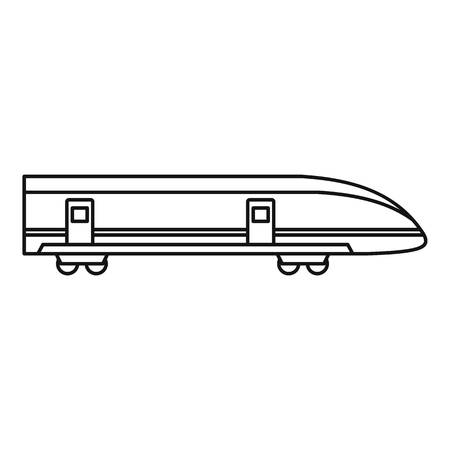 high speed: Modern high speed train icon. Outline illustration of high speed train vector icon for web design Illustration