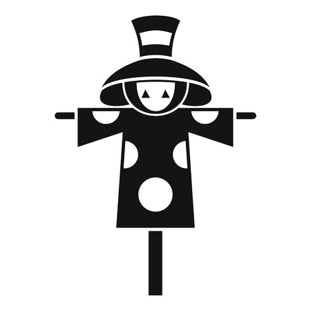 harvesting rice: Scarecrow icon. Simple illustration of scarecrow vector icon for web design