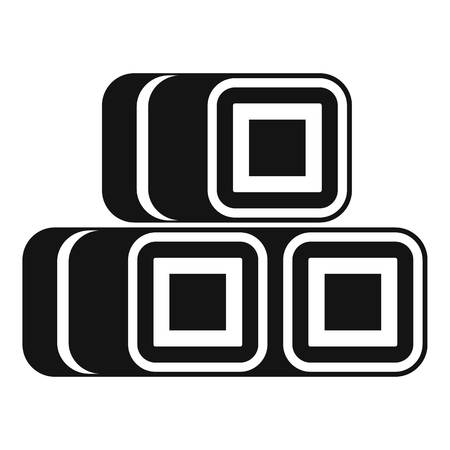 bales: Hay bundles icon. Simple illustration of hay vector icon for web design