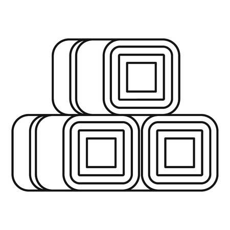bales: Hay bundles icon. Outline illustration of hay vector icon for web design
