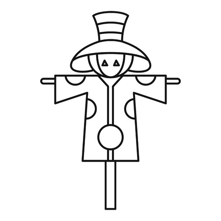harvesting rice: Scarecrow icon. Outline illustration of scarecrow vector icon for web design Illustration
