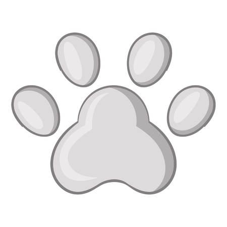 Footprint of cats foot icon. Cartoon illustration of cats foot icon for web design Illustration
