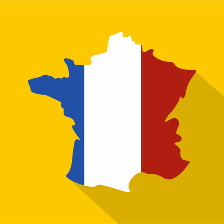 corsica: France icon. Flat illustration of france vector icon for web