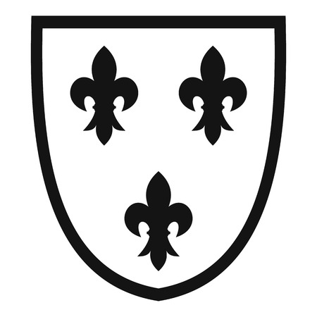 royal french lily symbols: Crest icon. Simple illustration of crest vector icon for web Illustration