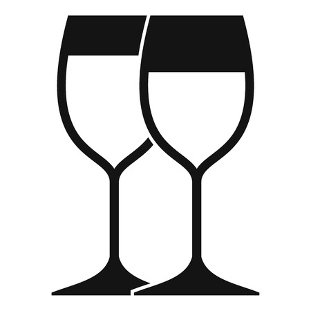 wineglasses: Wine glasses icon. Simple illustration of wine glasses vector icon for web