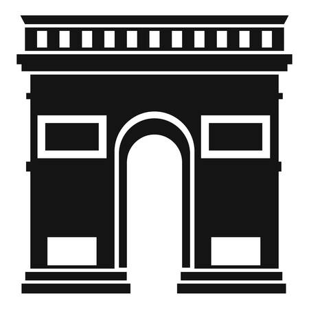 triumphal arch: Triumphal arch icon. Simple illustration of triumphal arch vector icon for web