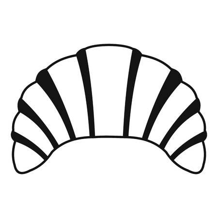produits céréaliers: Croissant icon. Simple illustration of croissant vector icon for web Illustration