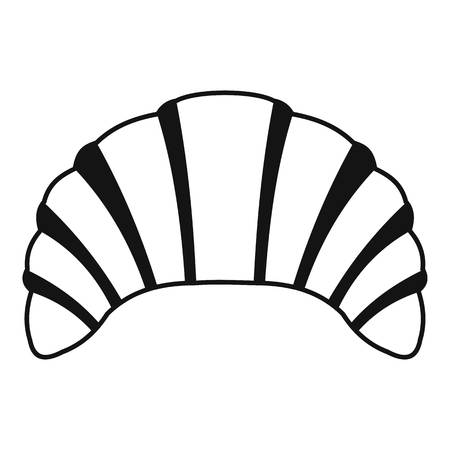 Croissant icon. Simple illustration of croissant vector icon for web Illustration