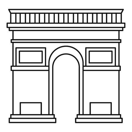 triumphal arch: Triumphal arch icon. Outline illustration of triumphal arch vector icon for web