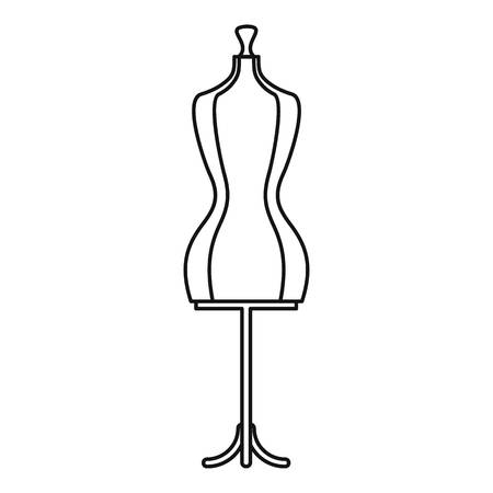 Mannequin icon. Outline illustration of mannequin vector icon for web
