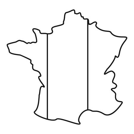 corsica: France icon. Outline illustration of france vector icon for web Illustration