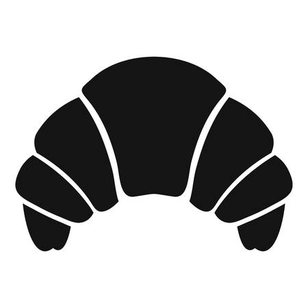 buttery: Croissant icon. Simple illustration of croissant vector icon for web Illustration
