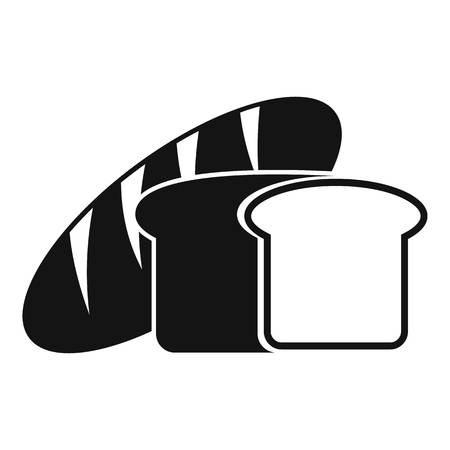 crusty: Bread icon. Simple illustration of bread vector icon for web Illustration