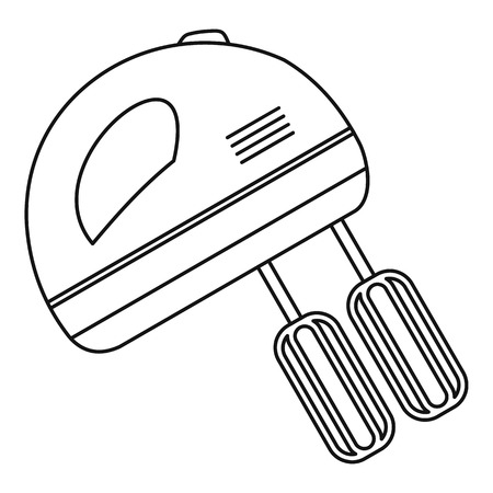 Hand mixer icon. Outline illustration of hand mixer vector icon for web