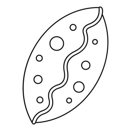 homemade bread: Small pie icon. Outline illustration of small pie vector icon for web