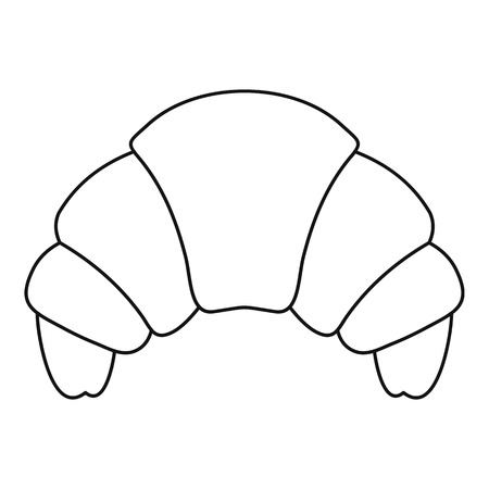 buttery: Croissant icon. Outline illustration of croissant vector icon for web Illustration