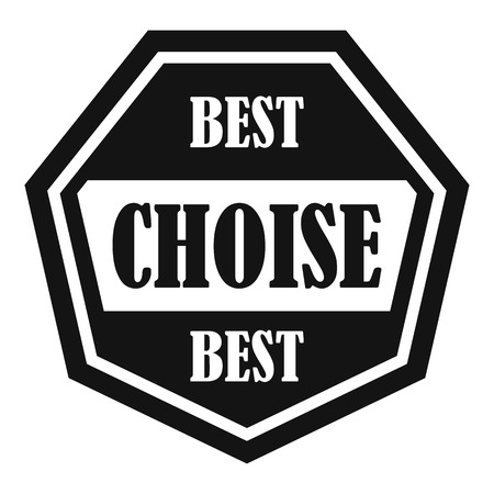 choise: Best choise label icon. Simple illustration of best choise label vector icon for web