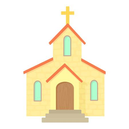 glans: Church icon. Cartoon illustration of church vector icon for web