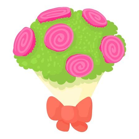 Wedding bouquet icon. Cartoon illustration of wedding bouquet vector icon for web