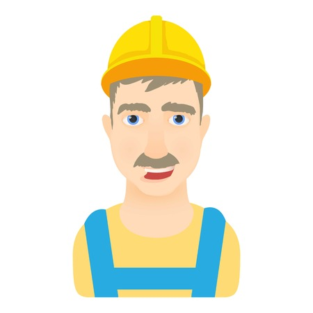 Worker icon. Cartoon illustration of worker vector icon for web